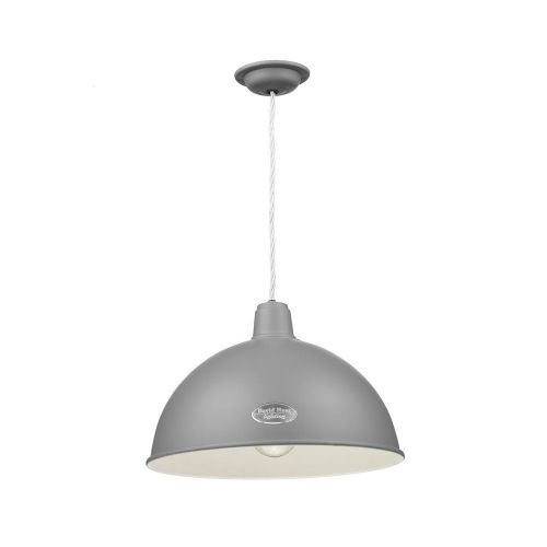 David Hunt Lighting, Groucho 1 Light Pendant Lead Grey, GRO0139 (Hand made, 7-10 day Delivery)